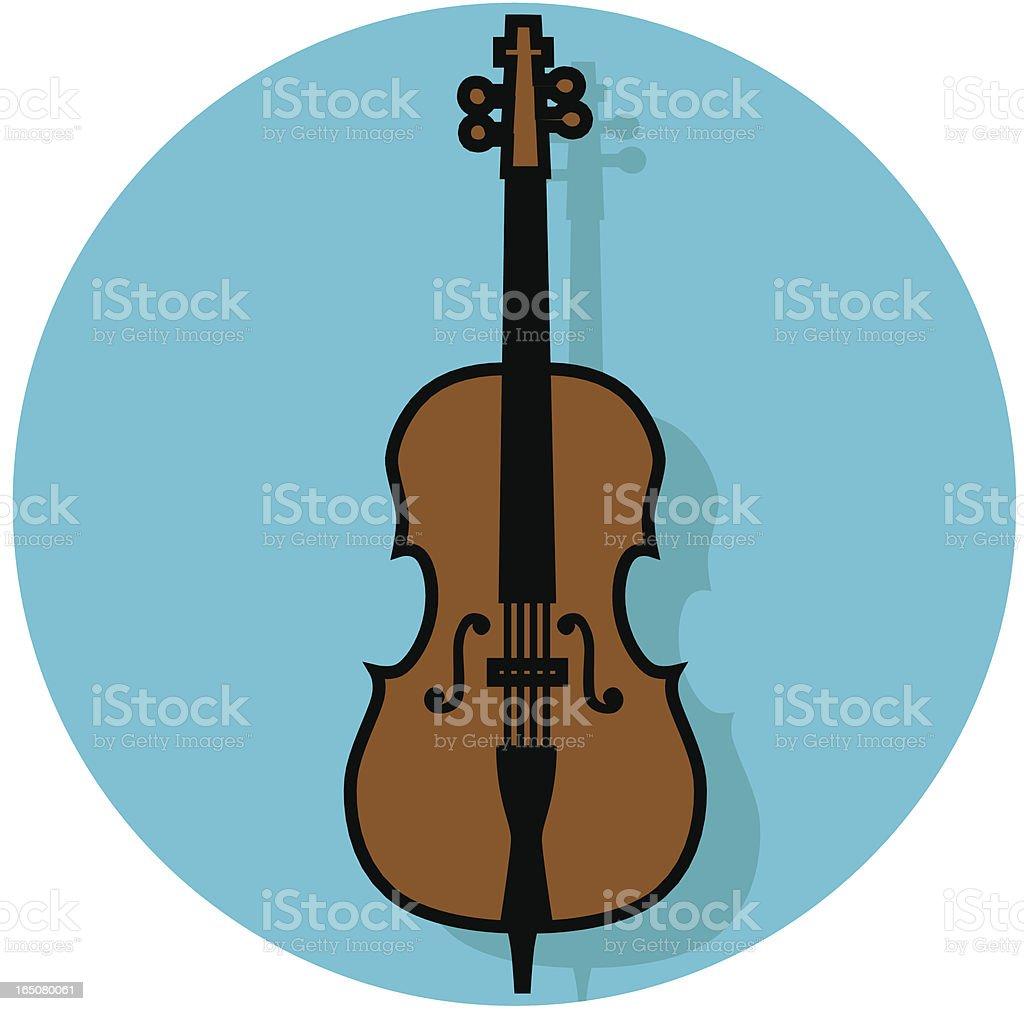 cello icon vector art illustration