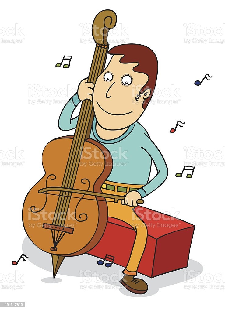 cello player royalty-free stock vector art