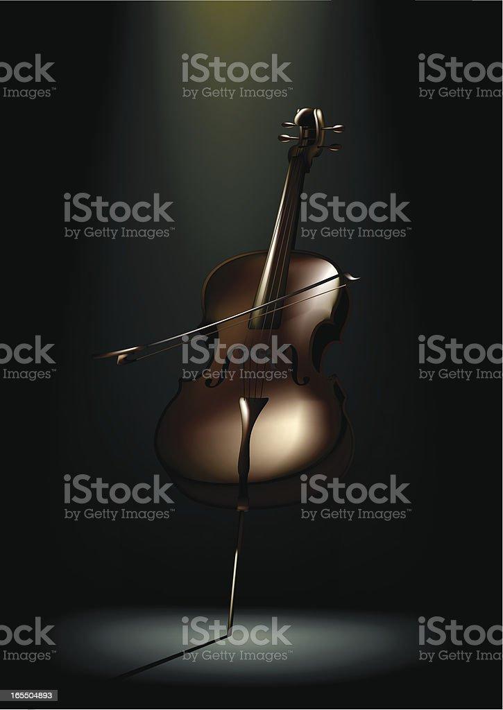 Cello Single vector art illustration