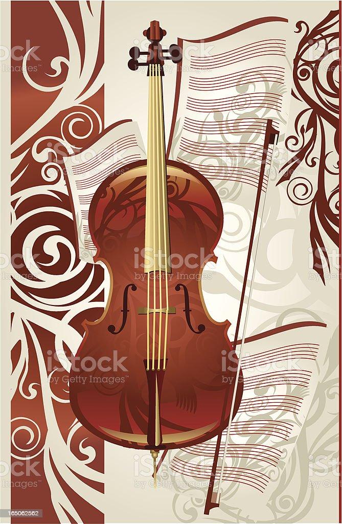 Cello vector art illustration