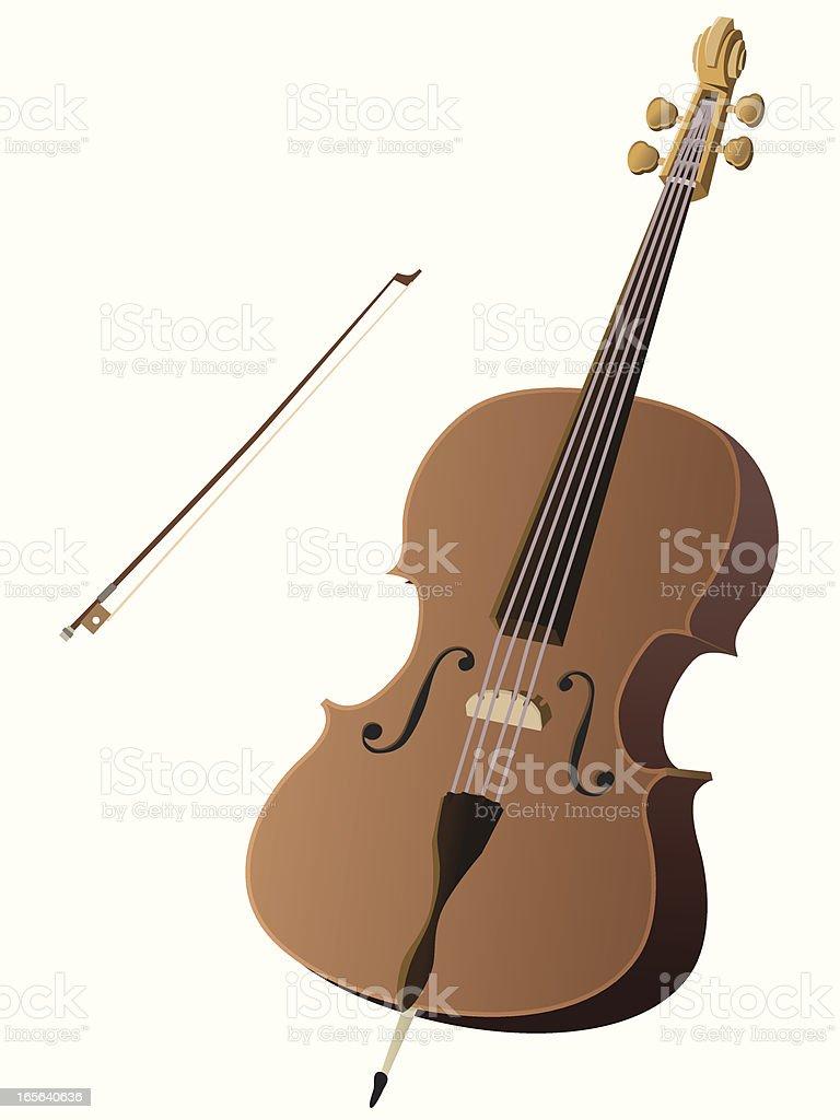 Cello royalty-free stock vector art