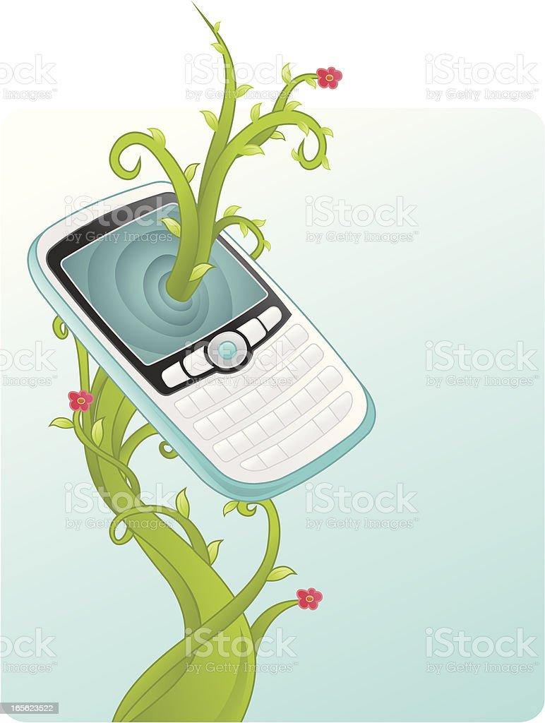cellphone evolution - communication evolved royalty-free stock vector art