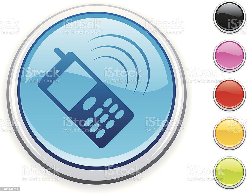 Cellphone icon royalty-free stock vector art