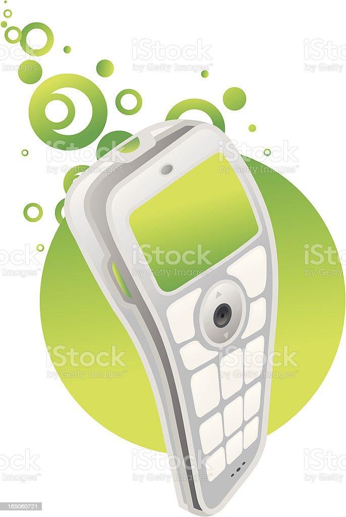cellphone mueve-verde - ilustración de arte vectorial