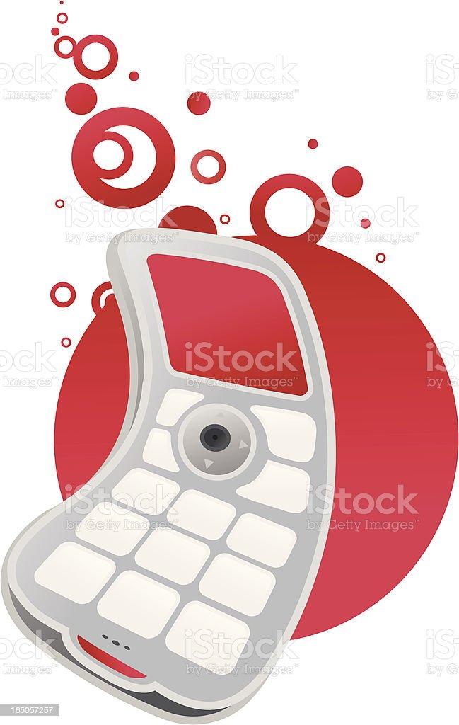 cellphone mueve-rojo - ilustración de arte vectorial