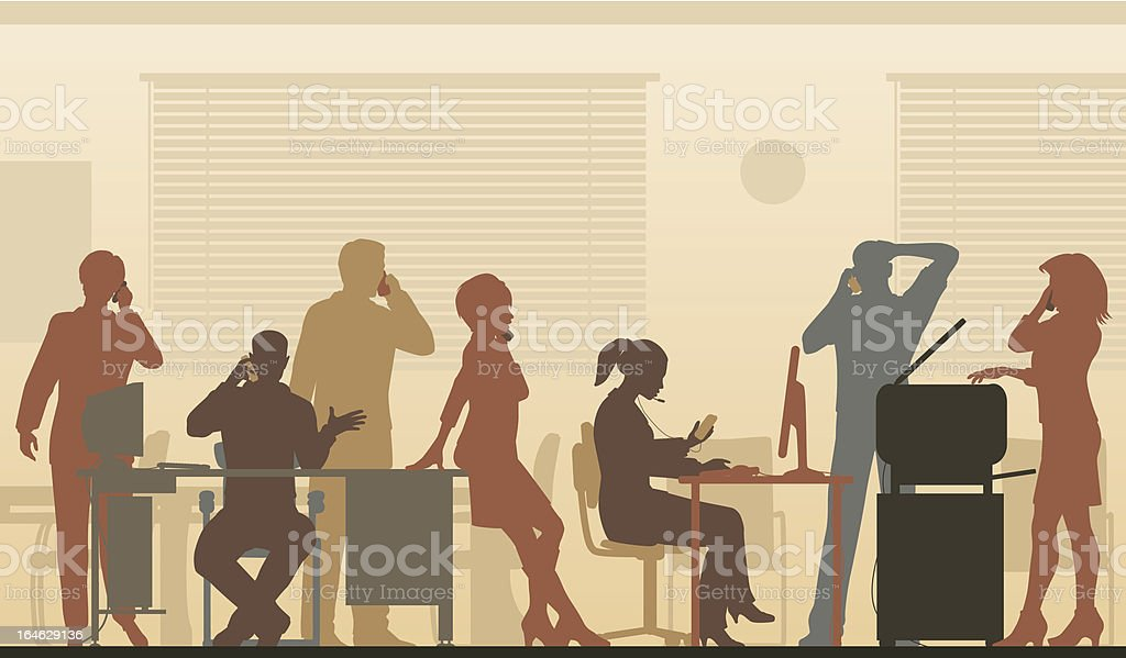 Cellphone office color royalty-free stock vector art