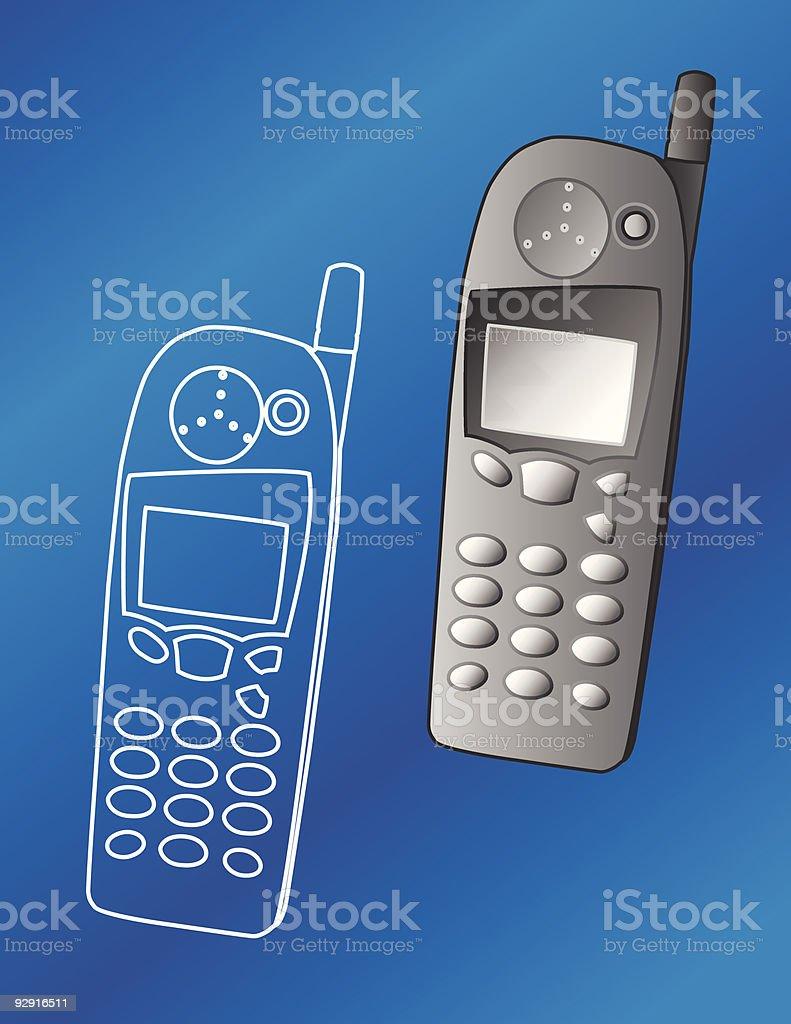 Cellphone (vector) vector art illustration