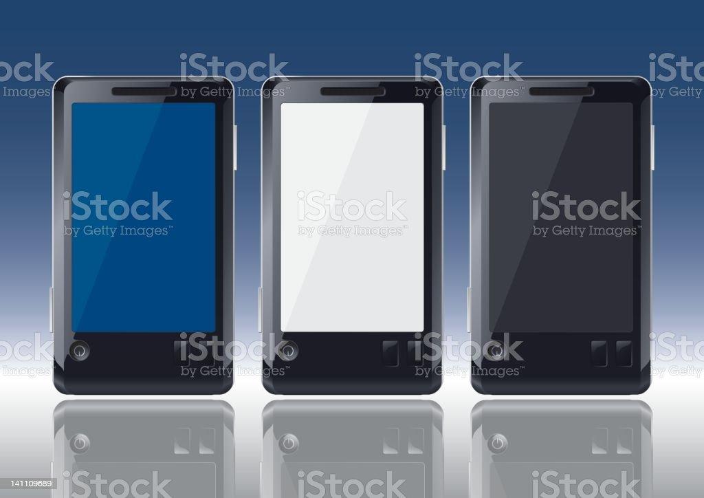 cellphones on gradient royalty-free stock vector art