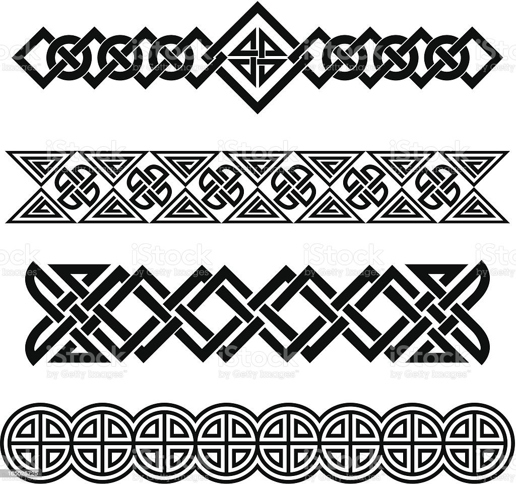 Celtic bands royalty-free stock vector art