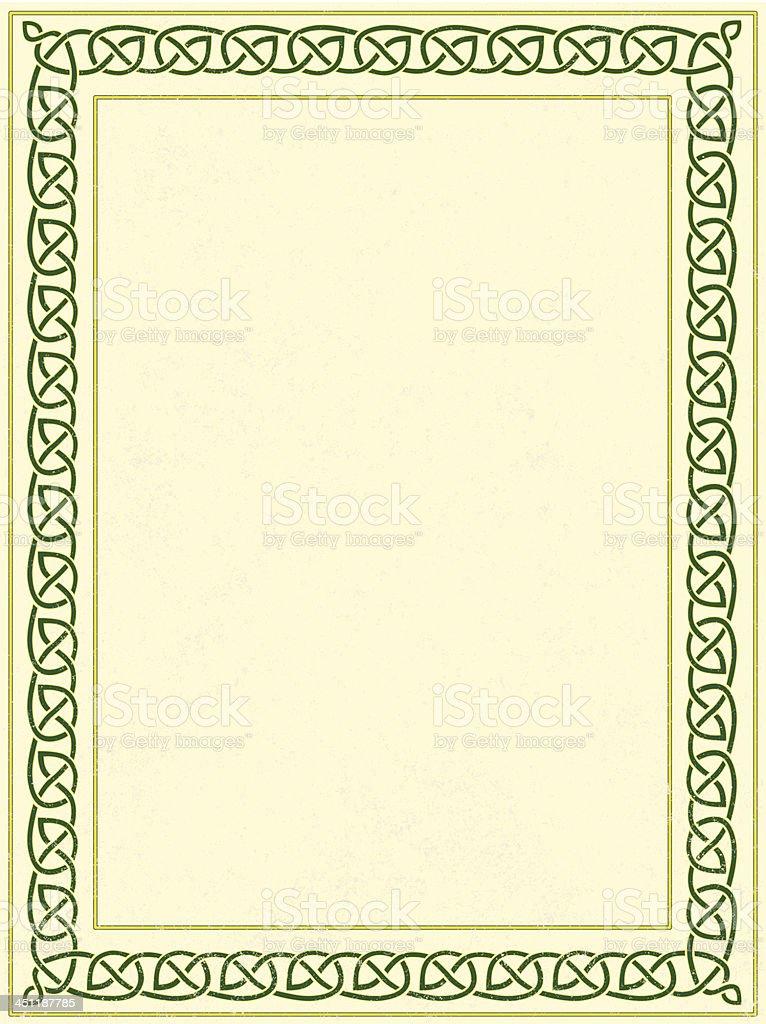 celtic border vector art illustration