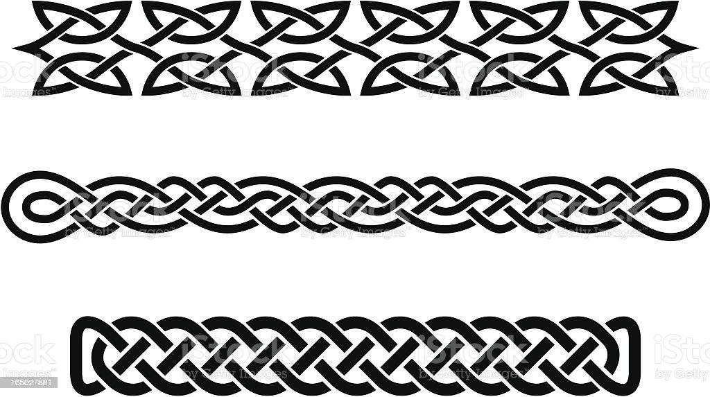 celtic braids royalty-free stock vector art