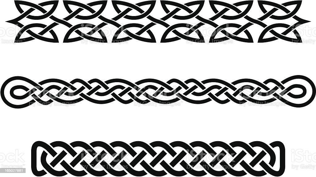 celtic braids vector art illustration