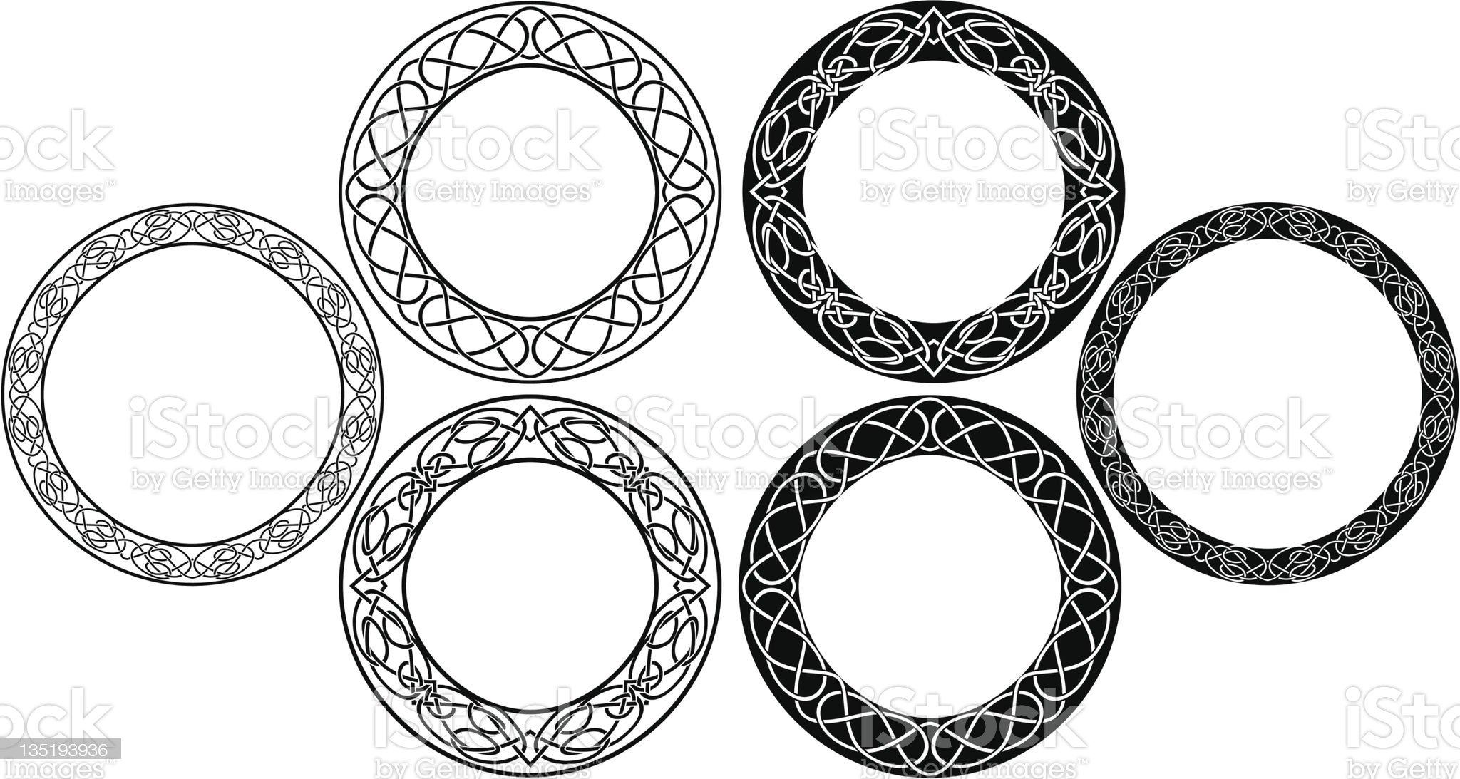 Celtic circle set royalty-free stock vector art