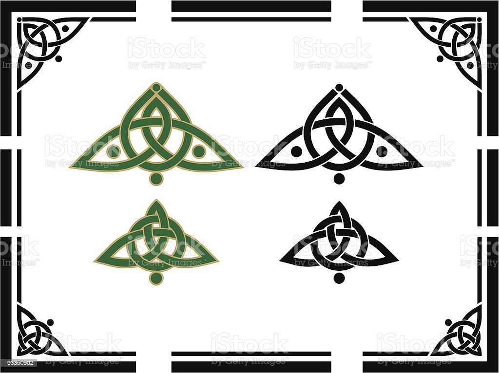 Celtic Corner Designs royalty-free stock vector art
