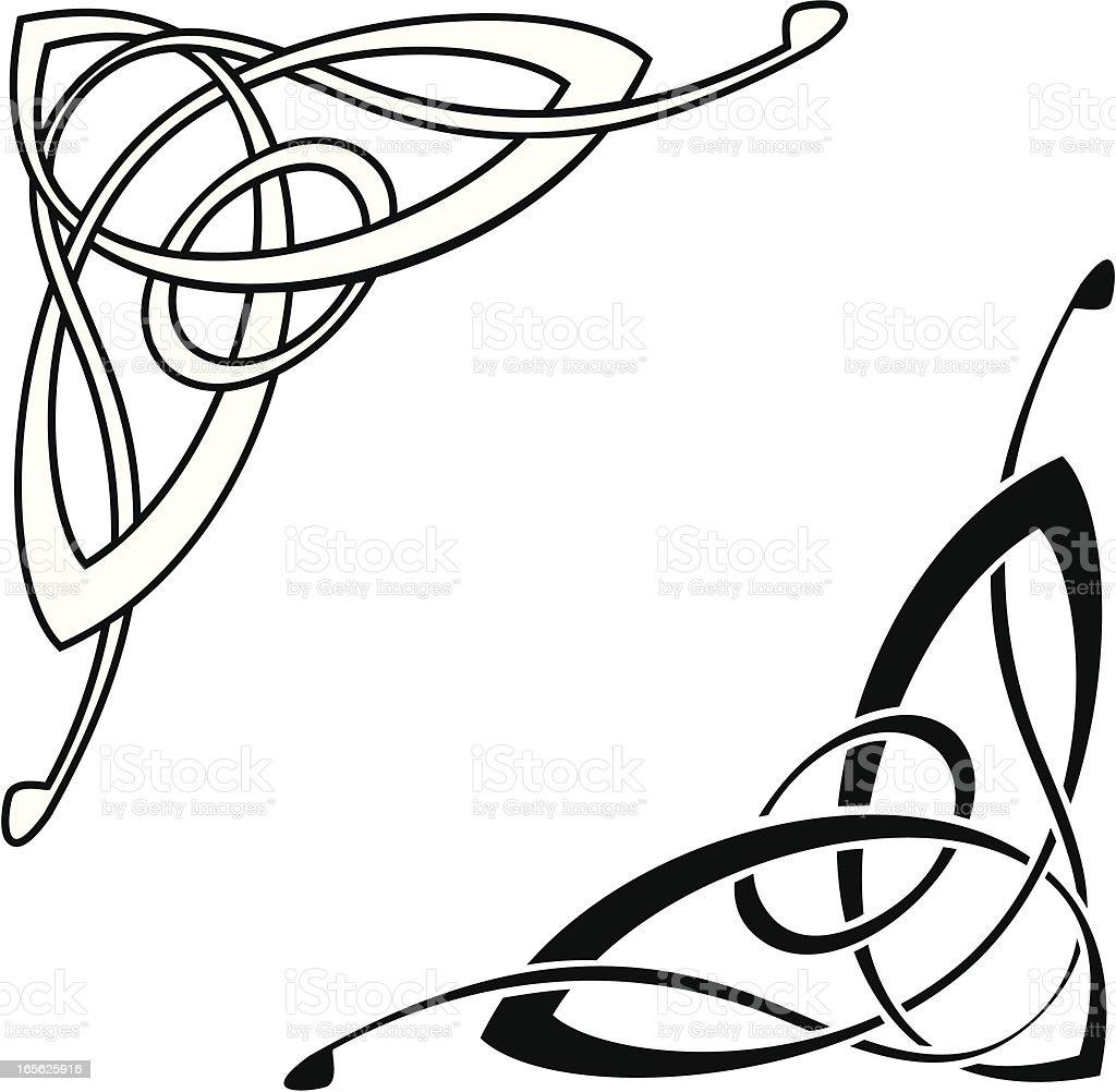Celtic Corner vector art illustration
