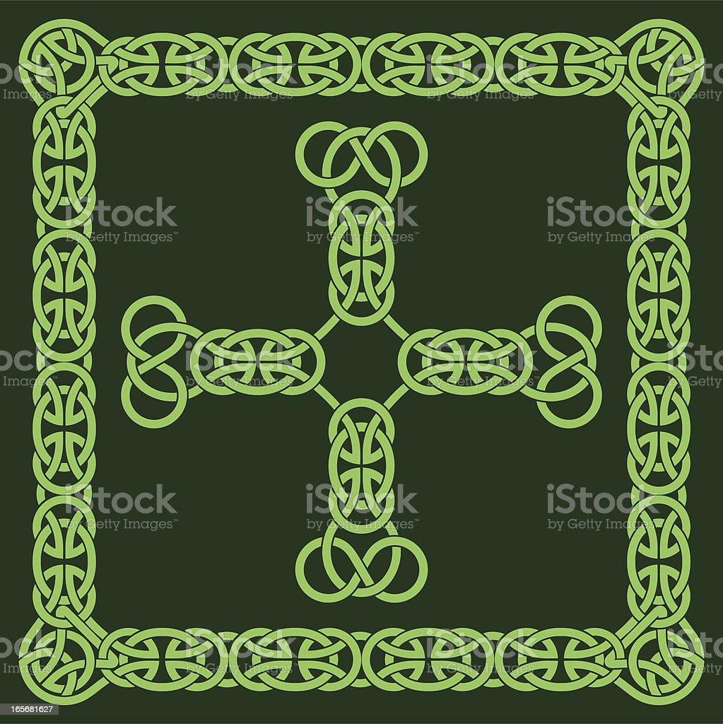 Celtic cross and frame royalty-free stock vector art