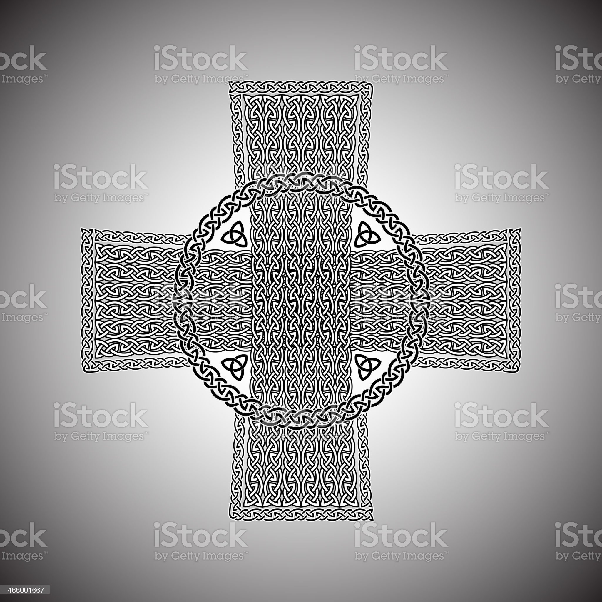Celtic cross on a gray background vector royalty-free stock vector art