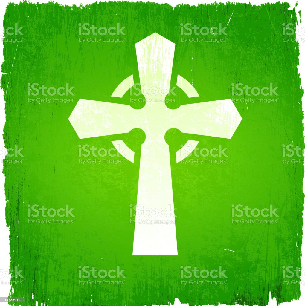 Celtic cross on royalty free vector Background royalty-free stock vector art