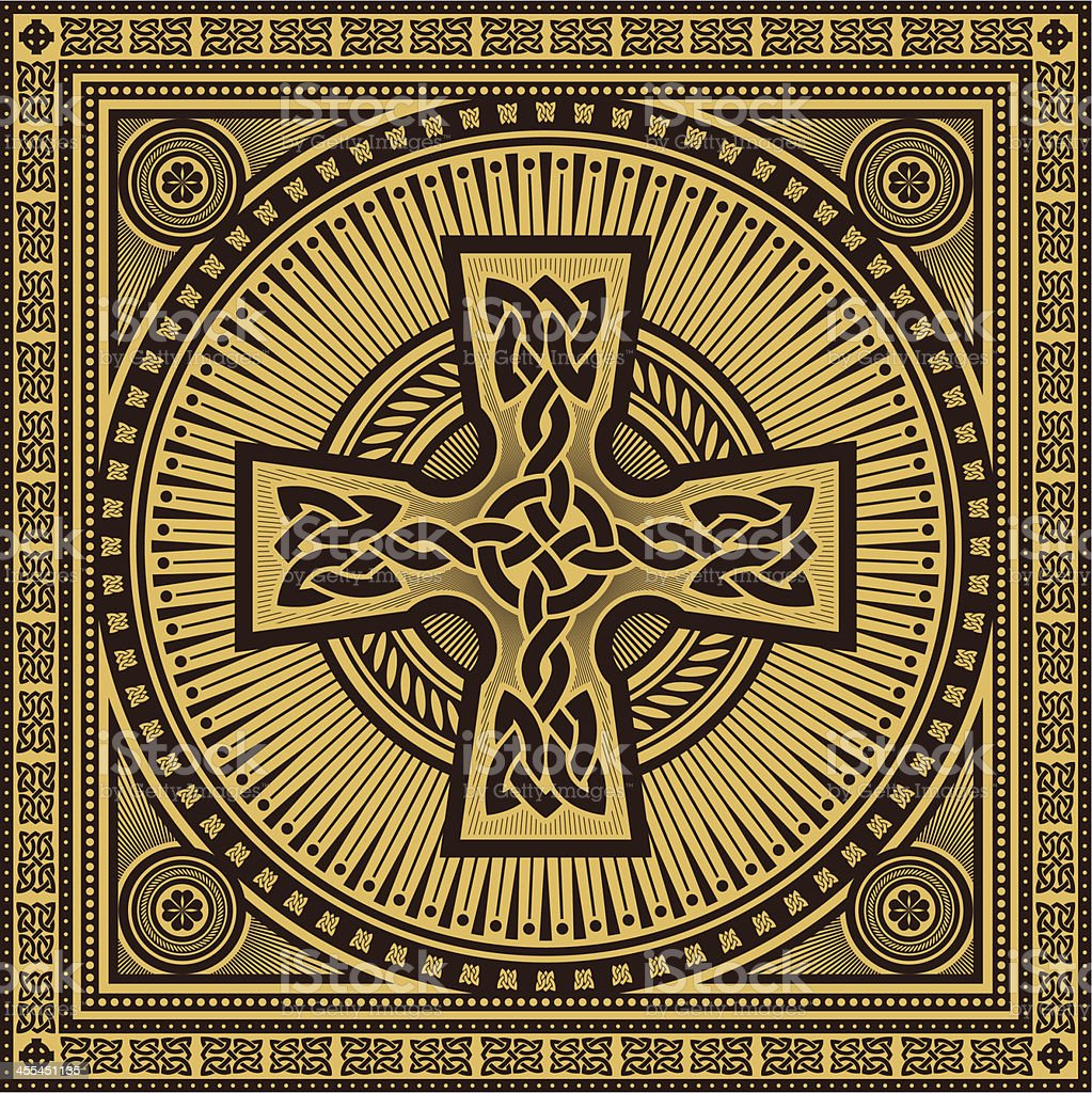 celtic cross royalty-free stock vector art