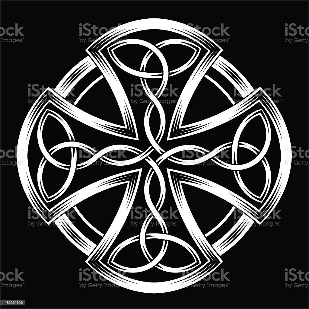 Celtic cross vector art illustration