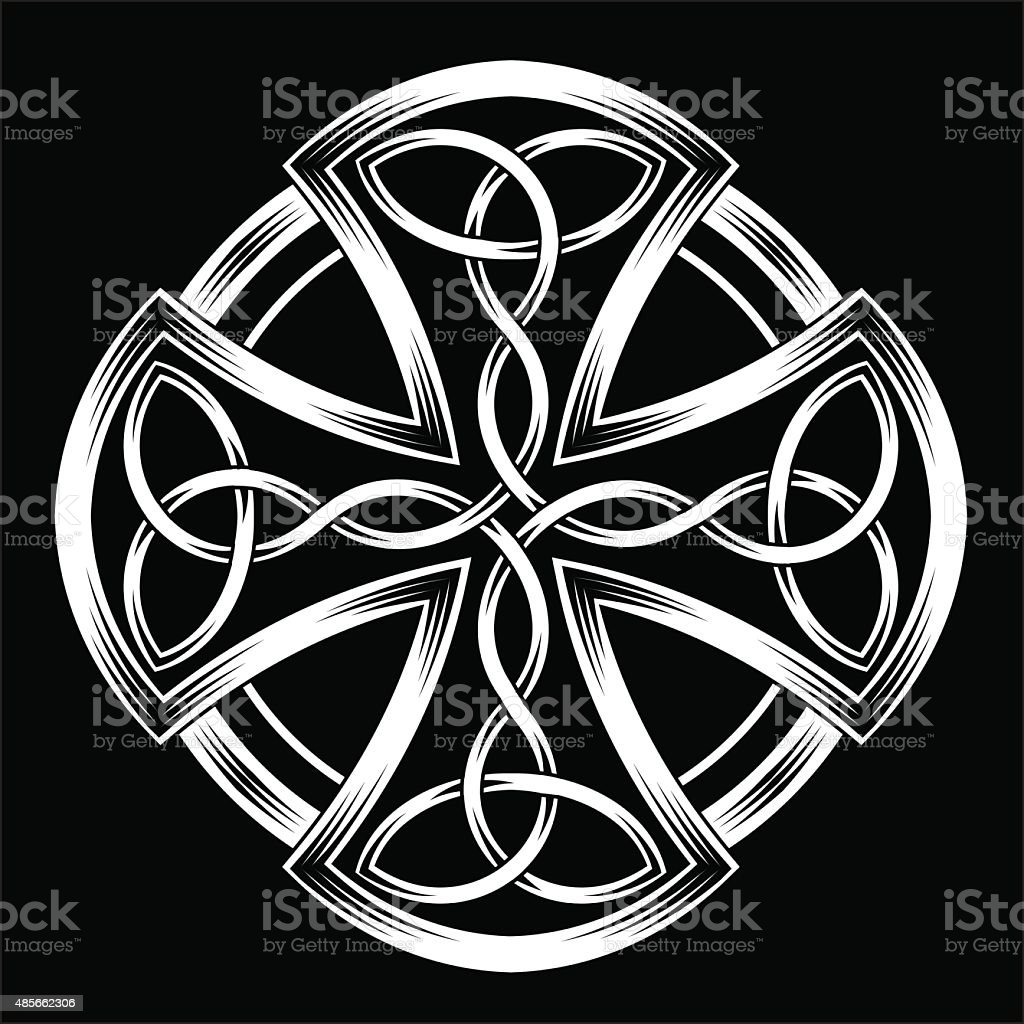 Celtic cross vector art illustration