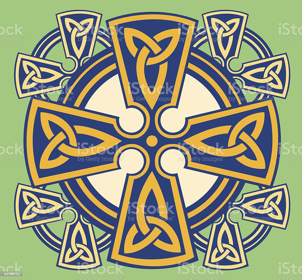 Celtic Cross with Circle royalty-free stock vector art