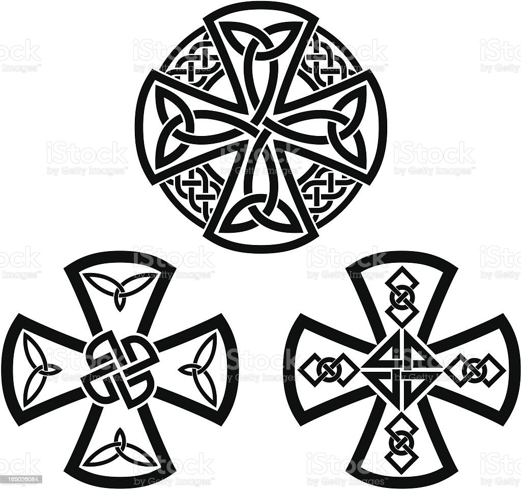 Celtic crosses vector art illustration