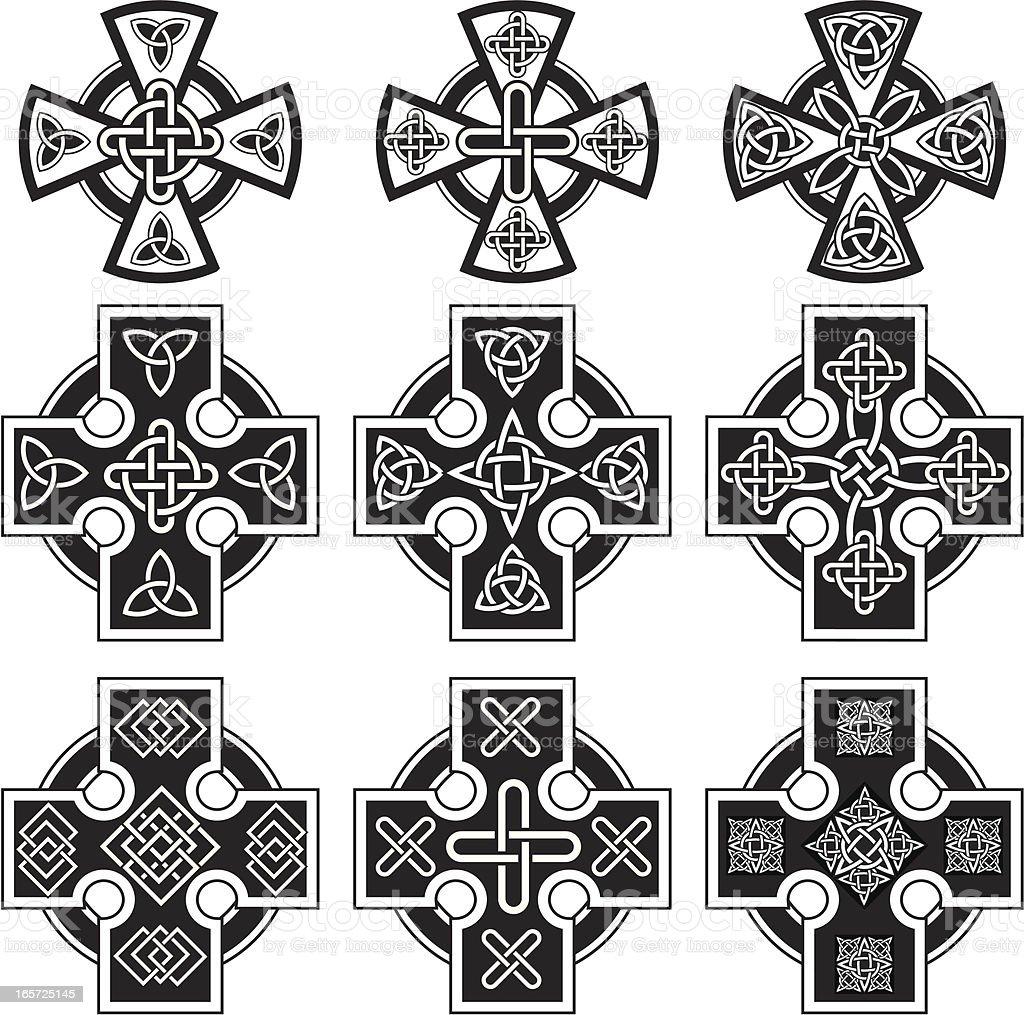 Celtic crosses royalty-free stock vector art