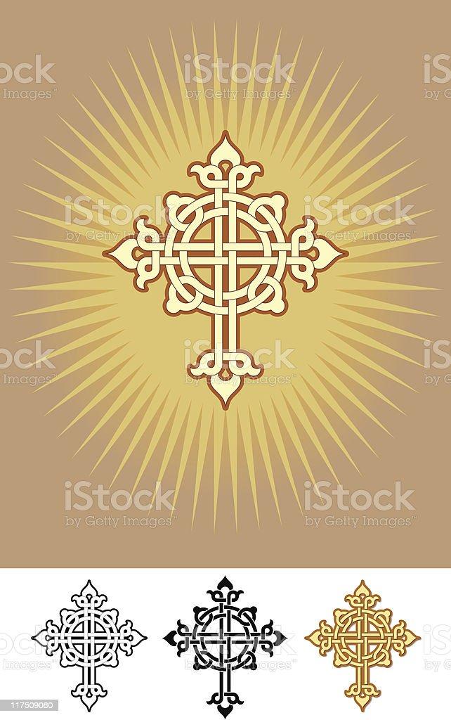 Celtic Crucifix Design royalty-free stock vector art