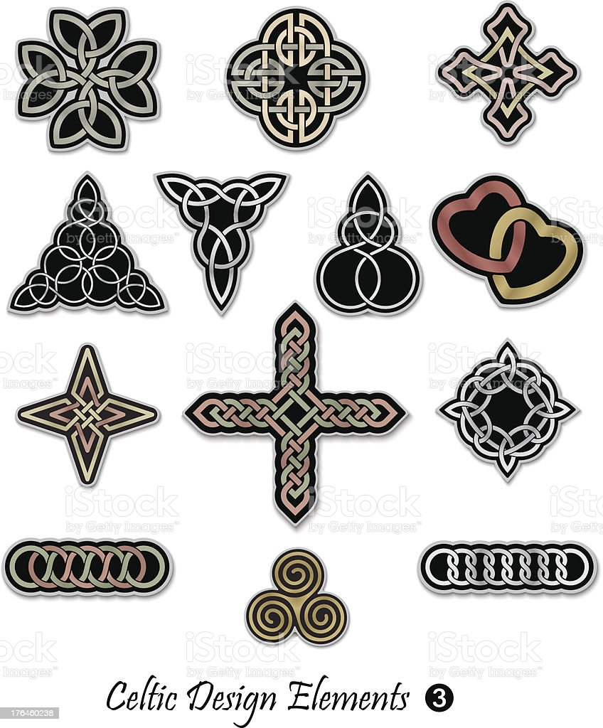 Celtic Design Elements 3 royalty-free stock vector art