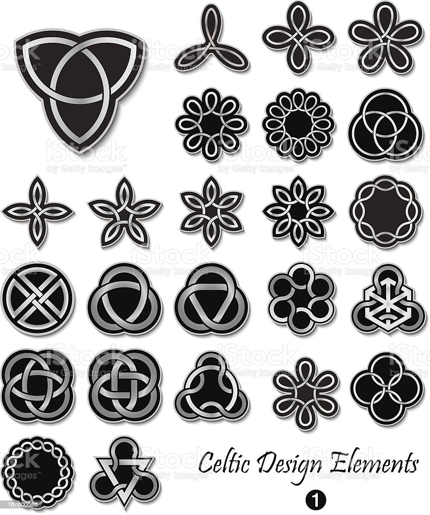Celtic Design Elements royalty-free stock vector art