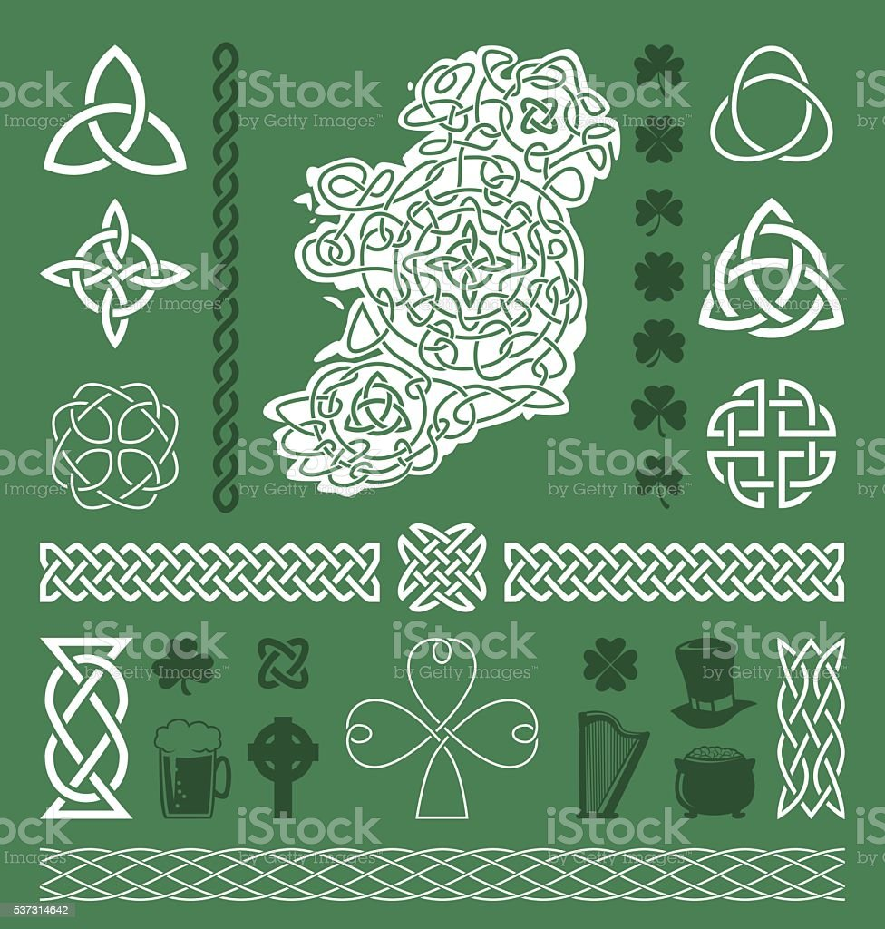Celtic Design Elements vector art illustration