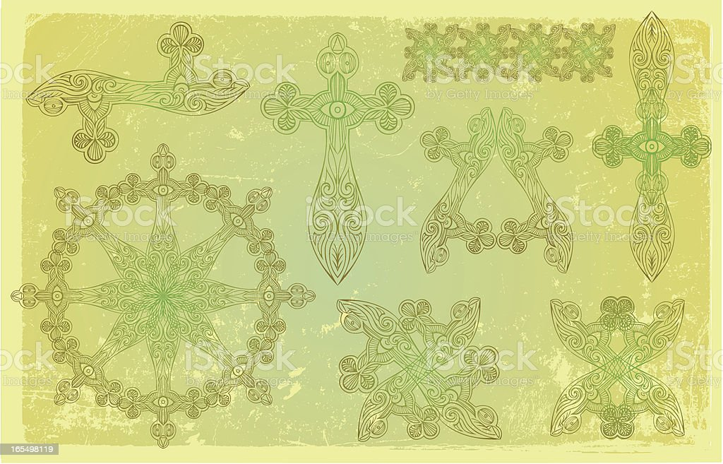 celtic elements royalty-free stock vector art