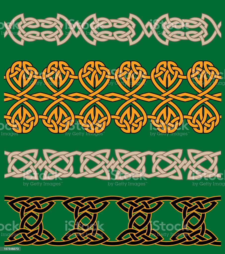 Celtic embellishments and ornaments royalty-free stock vector art