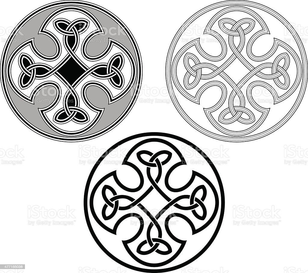 Celtic flower ornamnet (Infinity knot variation n? 6) vector art illustration
