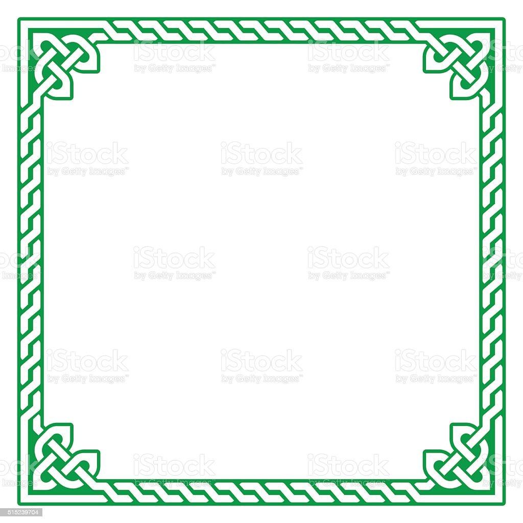 Celtic frame, border pattern - vector vector art illustration