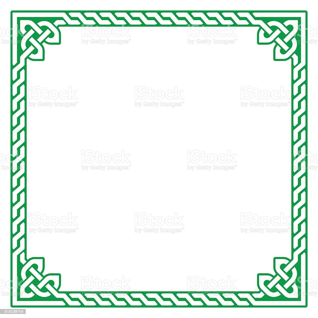 Celtic frame, border pattern - vector vector art illustration