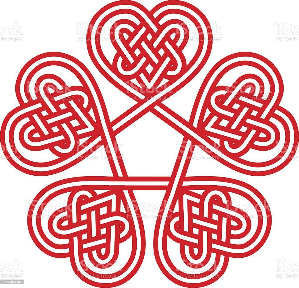Celtic Hearts vector art illustration