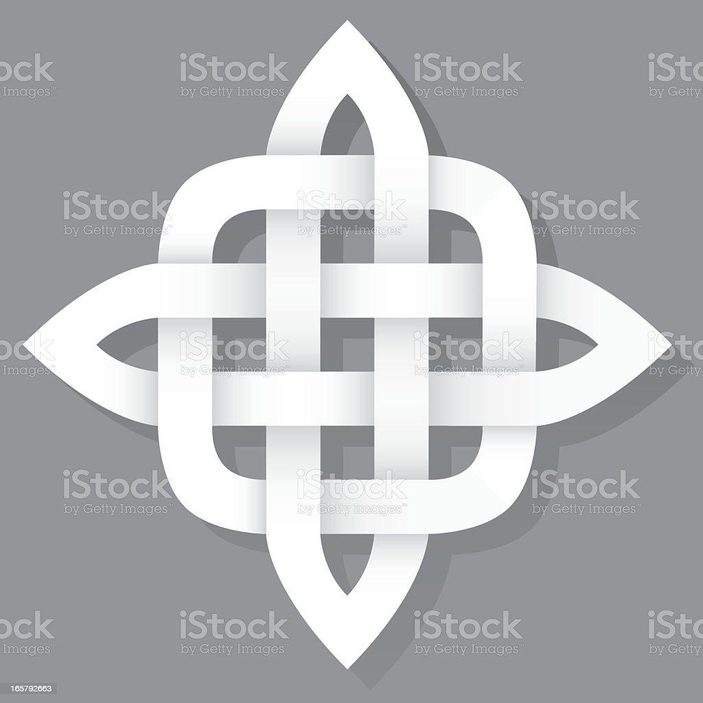 Celtic Knot Icon vector art illustration