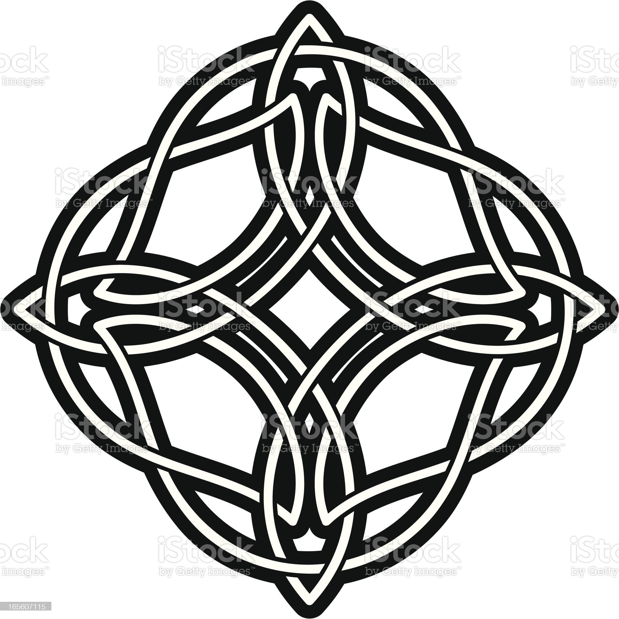 Celtic knot medallion royalty-free stock vector art