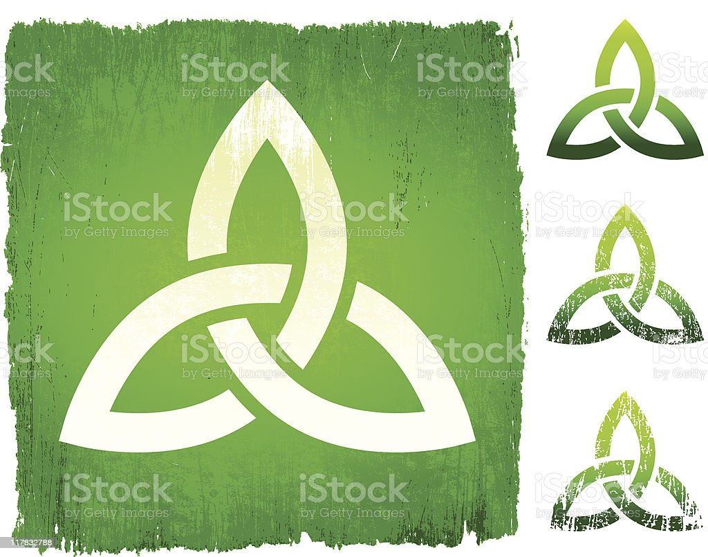 Celtic knot on royalty free vector Background royalty-free stock vector art