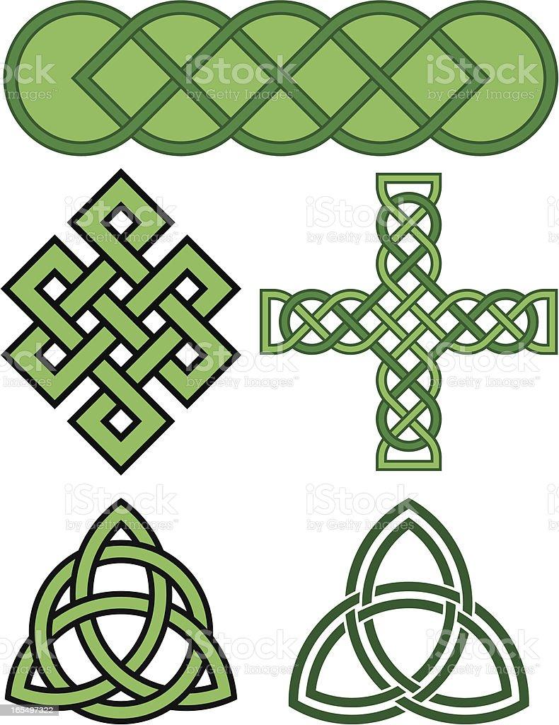 Celtic Knot Patterns vector art illustration
