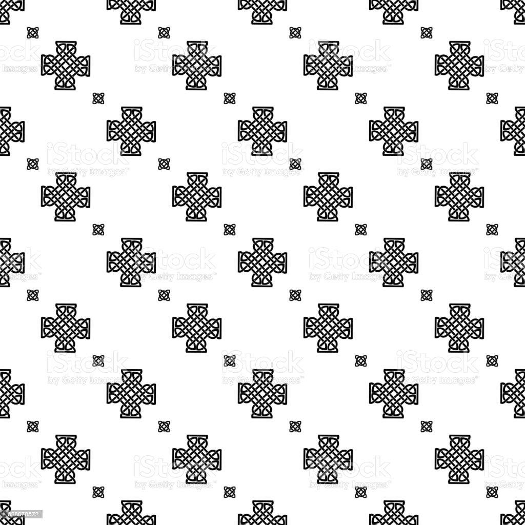 Celtic knot seamless pattern vector art illustration