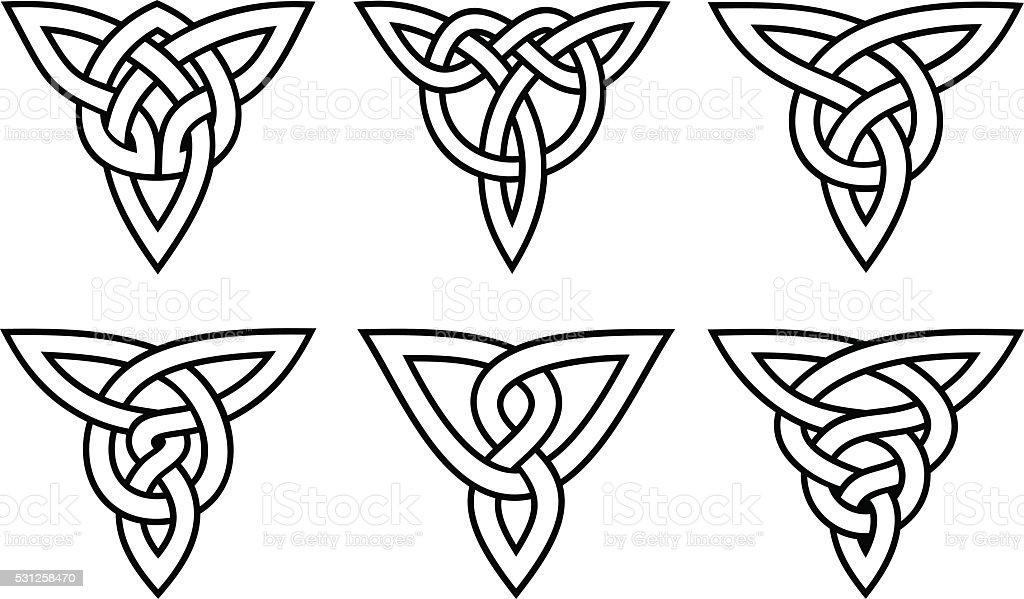 celtic knot set vector art illustration