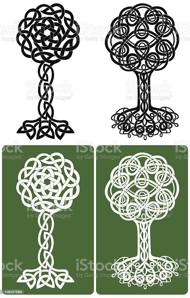 Celtic Knot Trees royalty-free stock vector art