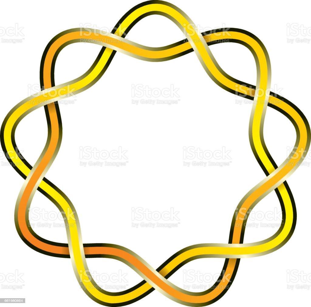 Celtic knot vector art illustration