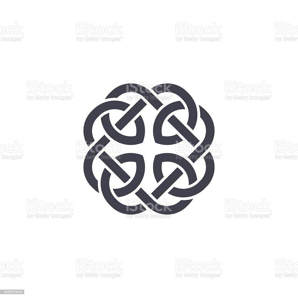 Celtic knot vector vector art illustration