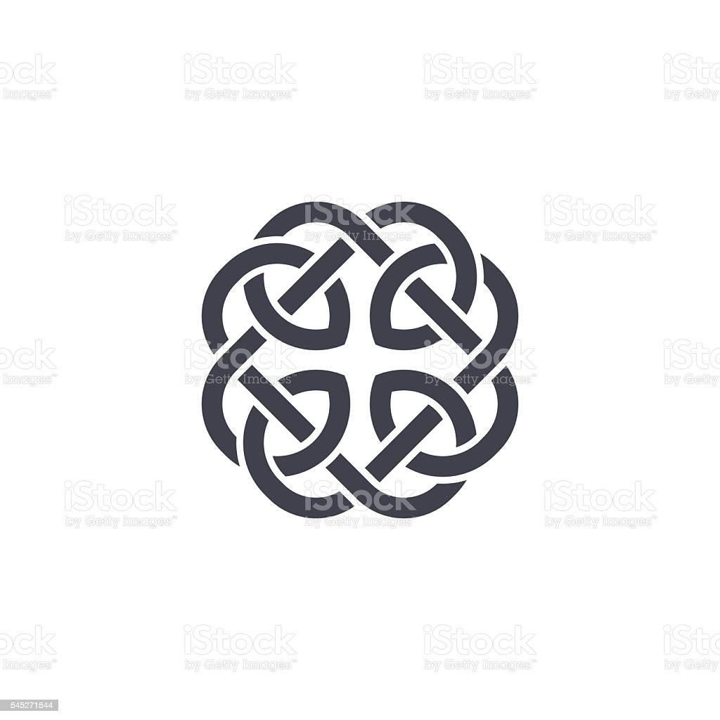 Celtic knot vector vector art illustration