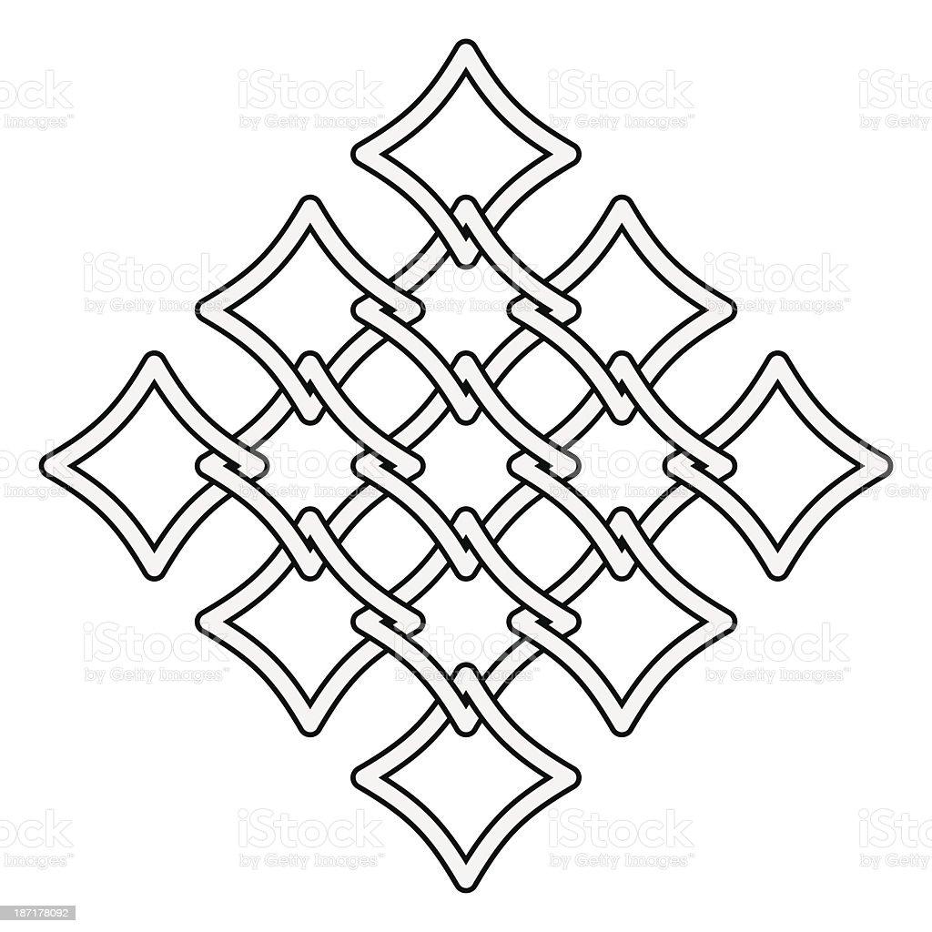 Celtic knots fences pattern vector art illustration