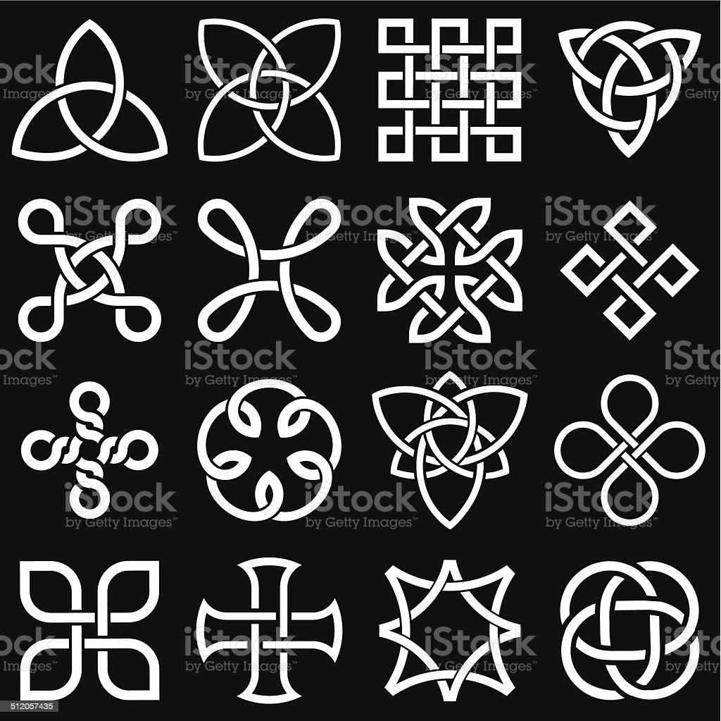 Celtic Knots in Vector Editable Format vector art illustration